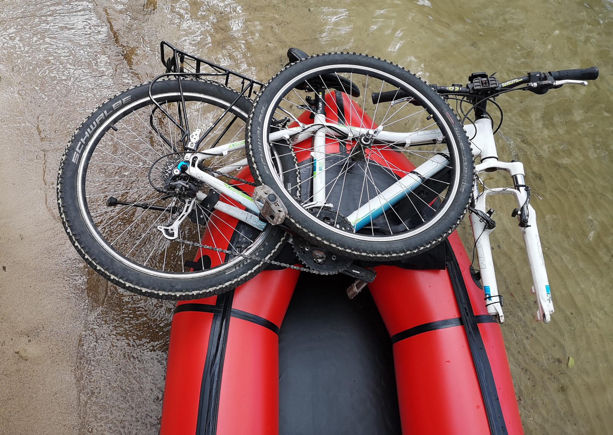 Ułożenie roweru w poprzek (MRS Microraft)